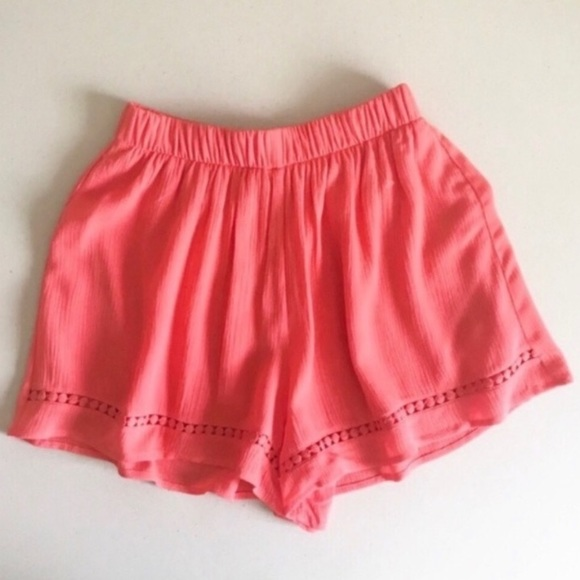Lush Pants - Lush Coral High Waisted Shorts NWOT Juniors XS